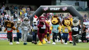 Can Alfred the Gorilla win the Mascot Race three years running?