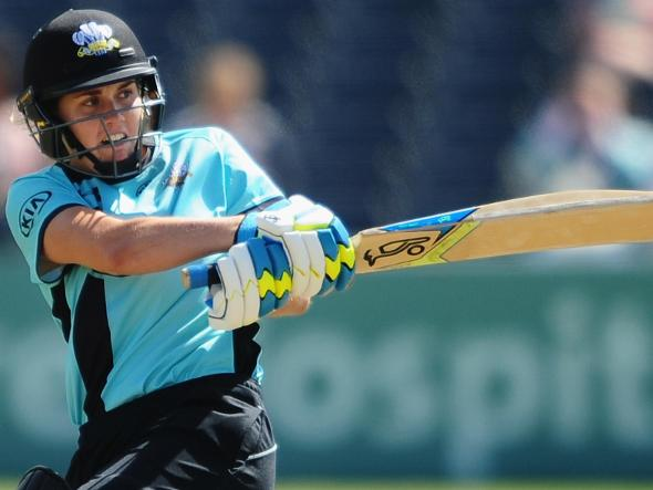 Nat Sciver batting for Surrey Stars