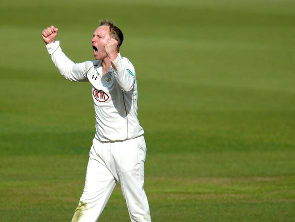 Gareth Batty takes another wicket