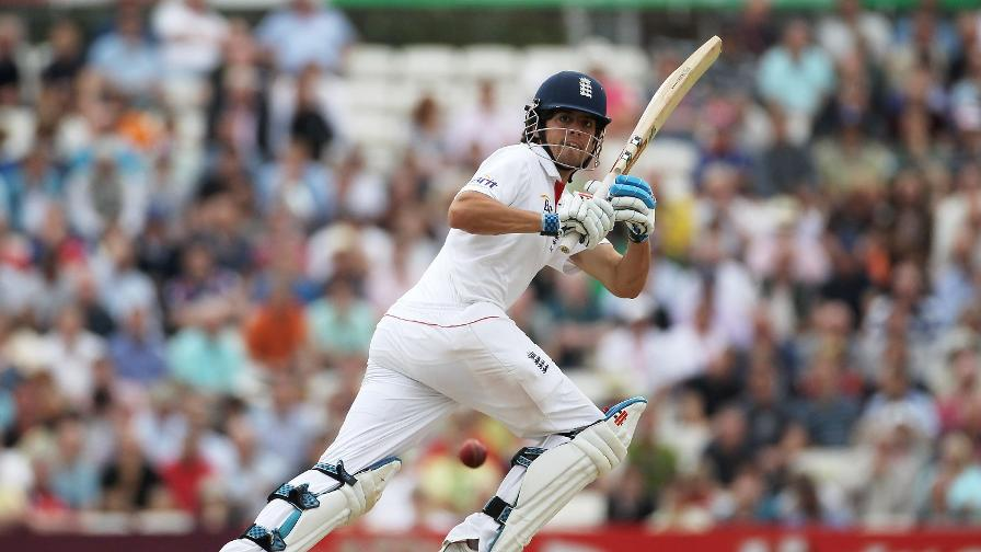 In action during his 105 against Pakistan at the Oval, which many said was a career-saving ton
