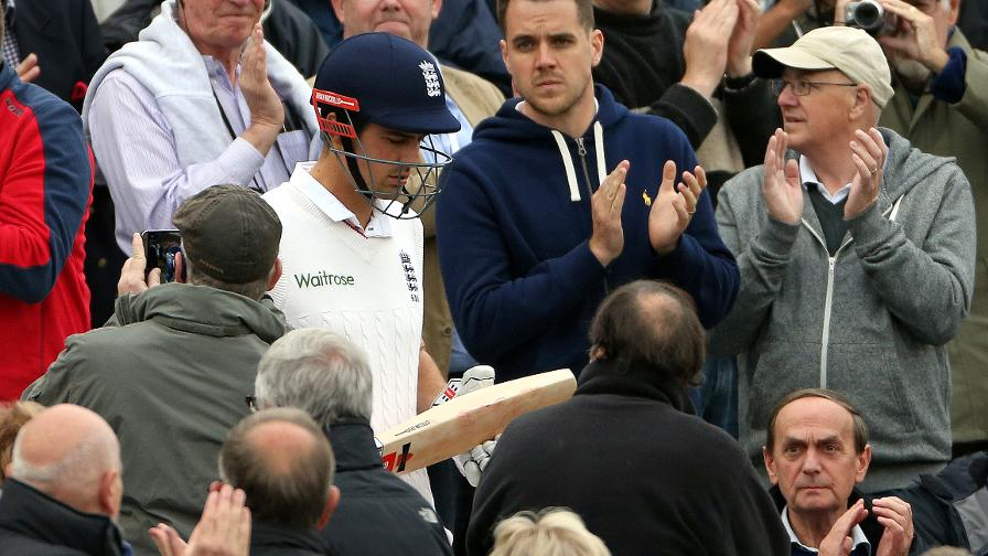 England expects - Alastair Cook takes the field