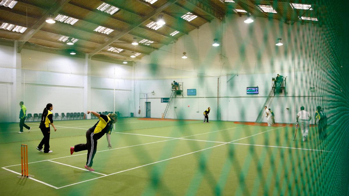 There are hard ball and soft ball options for indoor cricket