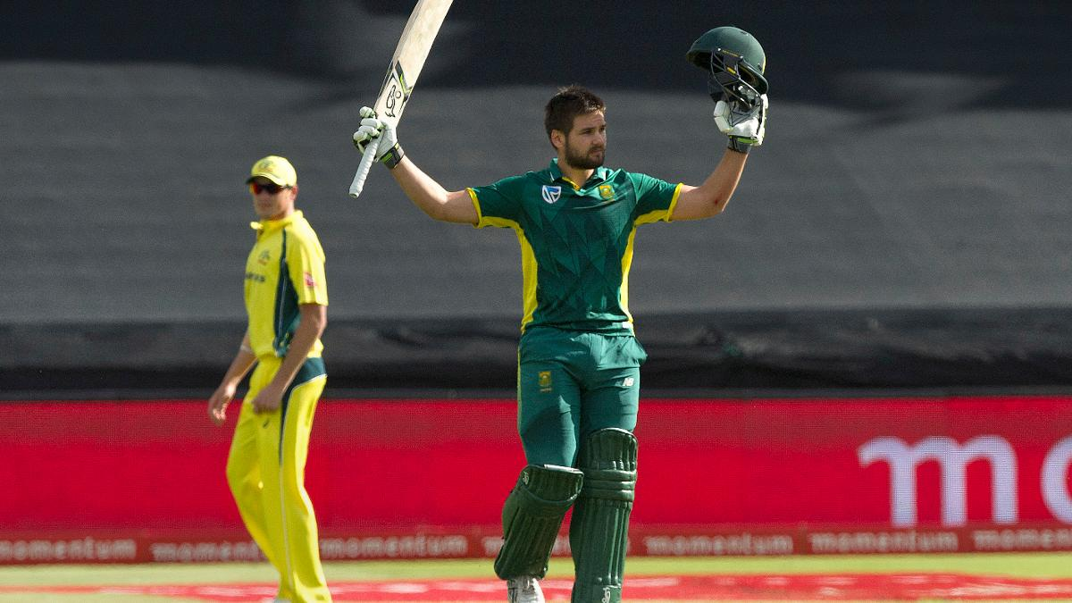 Rilee Rossouw in action for South Africa