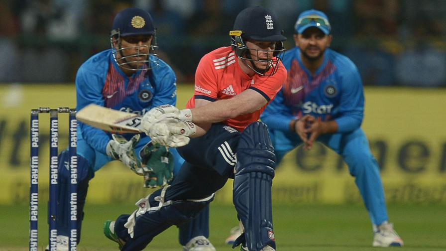 England remained on course with Eoin Morgan in good touch during his 40