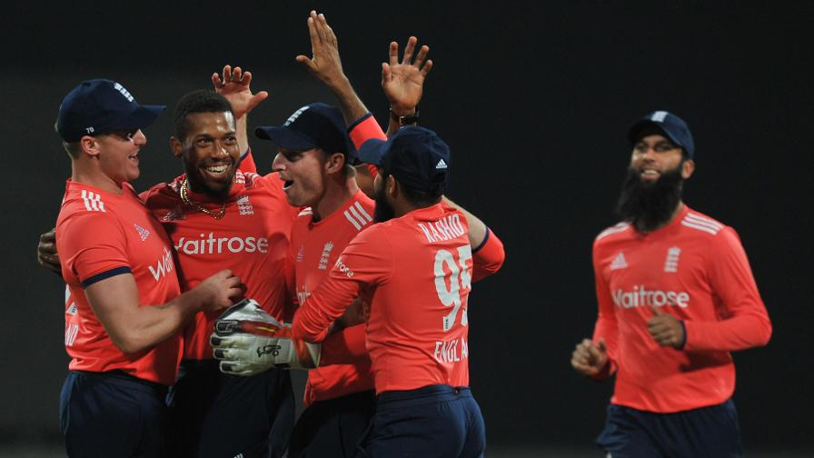 England made a perfect start when Chris Jordan brilliantly ran out Virat Kohli in the second over