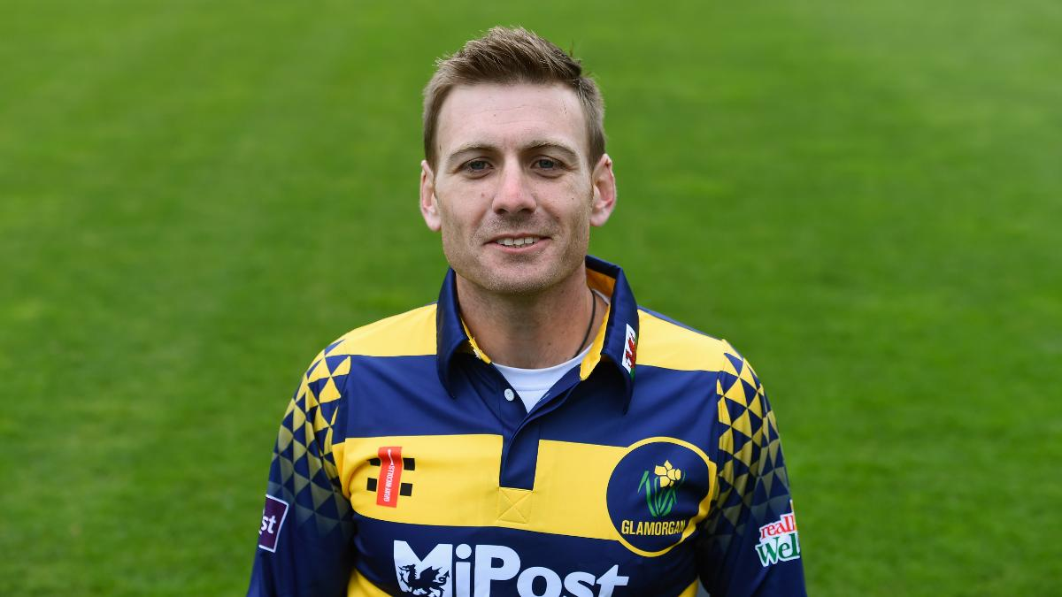 Mark Wallace at the 2016 Glamorgan CCC photocall
