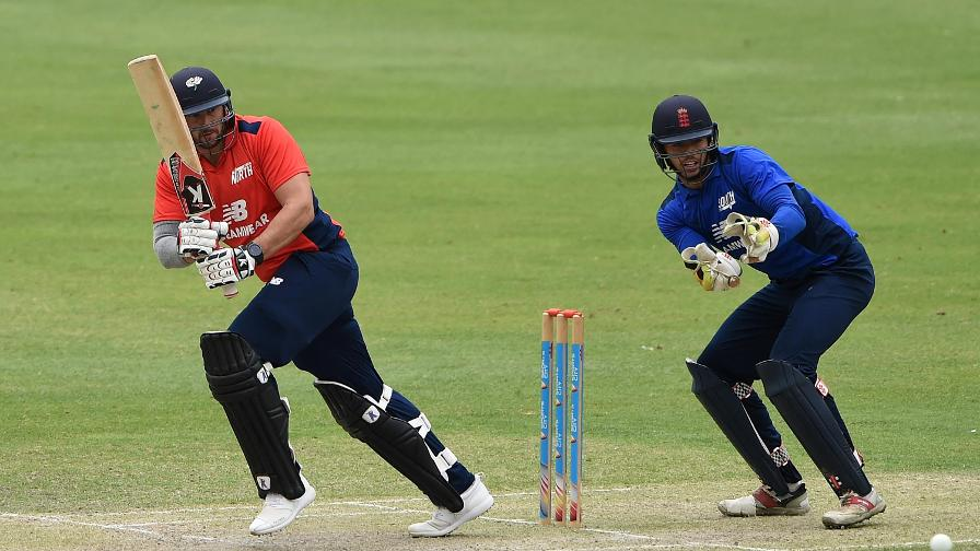 Tim Bresnan hit a powerful 40 from 41 for the North