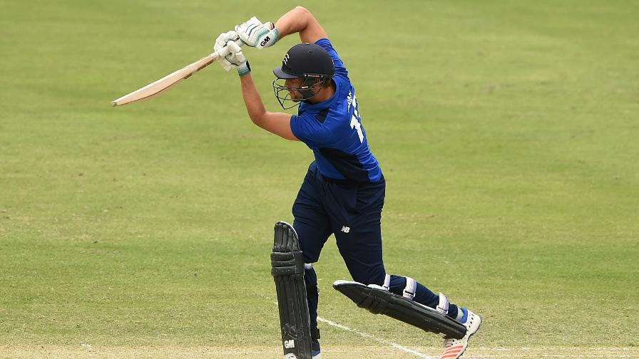 Dawid Malan taking the attack to the bowlers for the South in Dubai