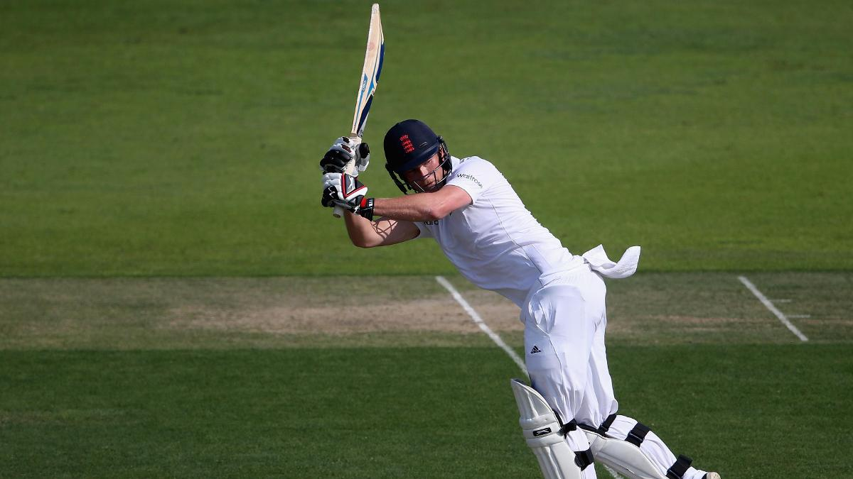 Tom Westley batting for the England Lions against Sri Lanka A during the winter