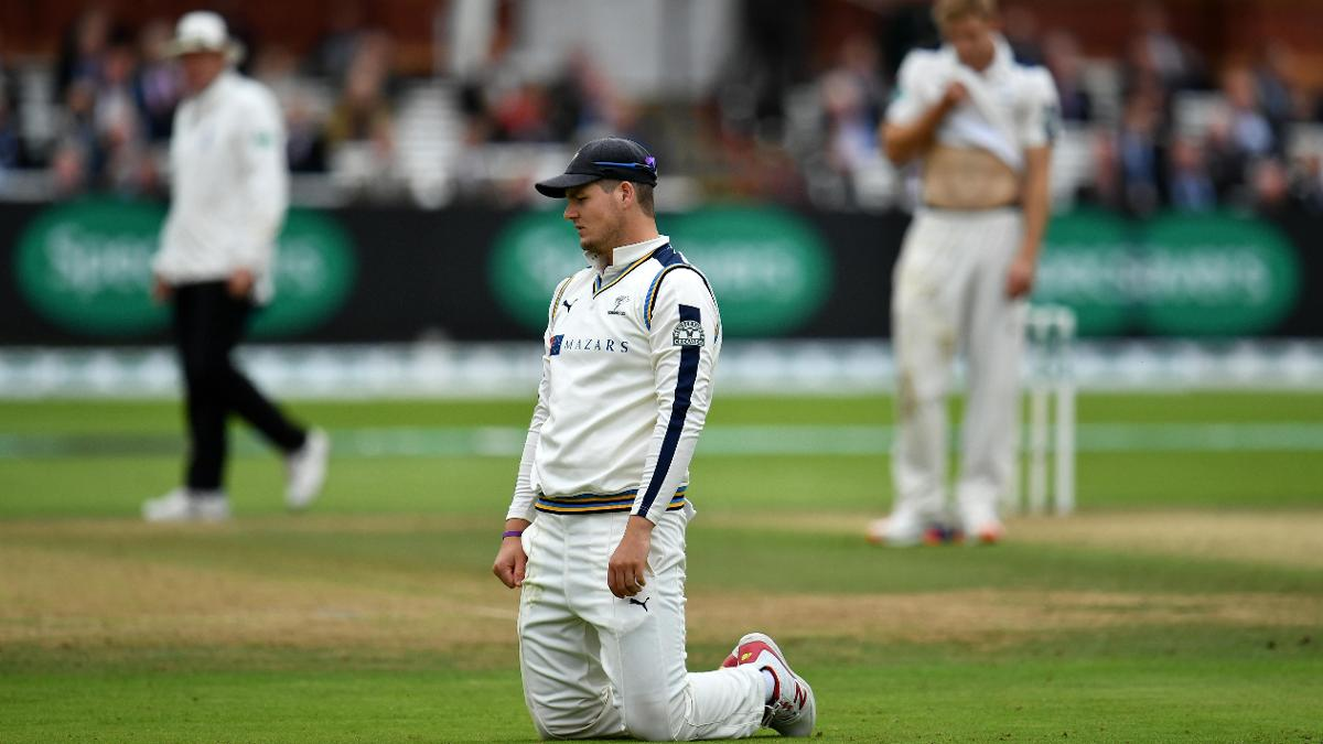 Alex Lees sees the title slip away at Lords last September