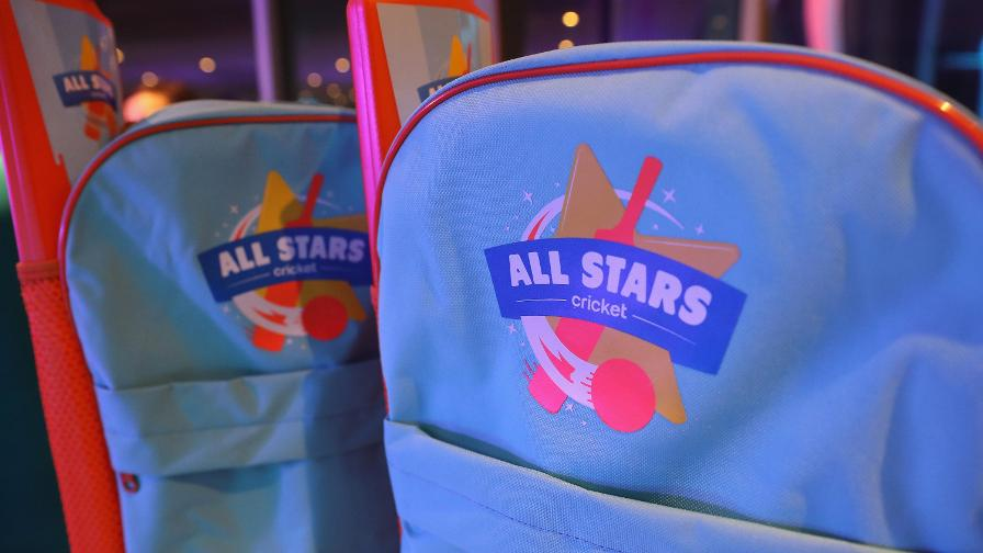 All registered All Stars Cricket kids receive a participant pack that includes a bat, ball, water bottle, cap, personalised shirt and backpack