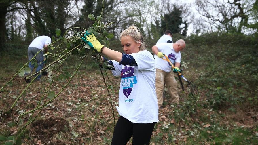 Volunteers undertook a wide range of tasks across the weekend