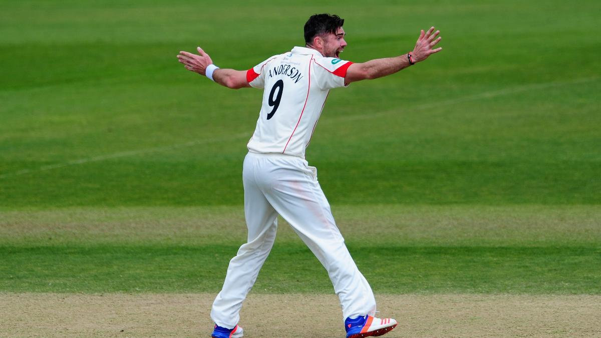 James Anderson is available for two of Lancashire's three opening County Championship matches