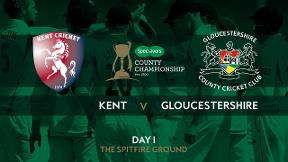 Highlights - Joe Denly top scored for Kent as they posted 298 against Gloucestershire