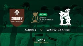 Surrey v Warwickshire Day 2 Highlights