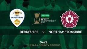 Highlights: Derbyshire v Northamptonshire - Day 1