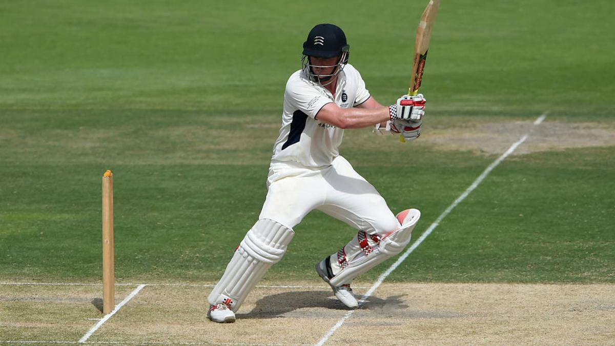 Sam Robson hit 47 off 91 balls before becoming one of Ryan Sidebottom's victims