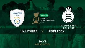 Highlights: Hampshire v Middlesex - Day 1