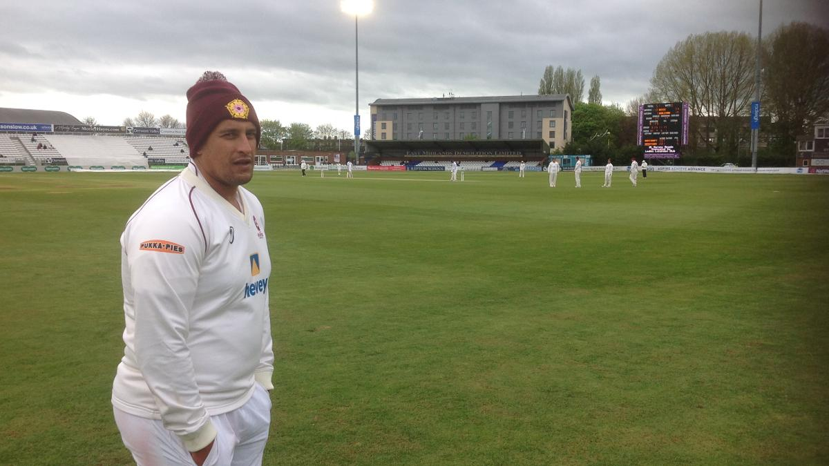 Rory Kleinveldt wrapping up as the English weather reverts to type