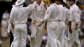 Alan Mullally taking wickets for England