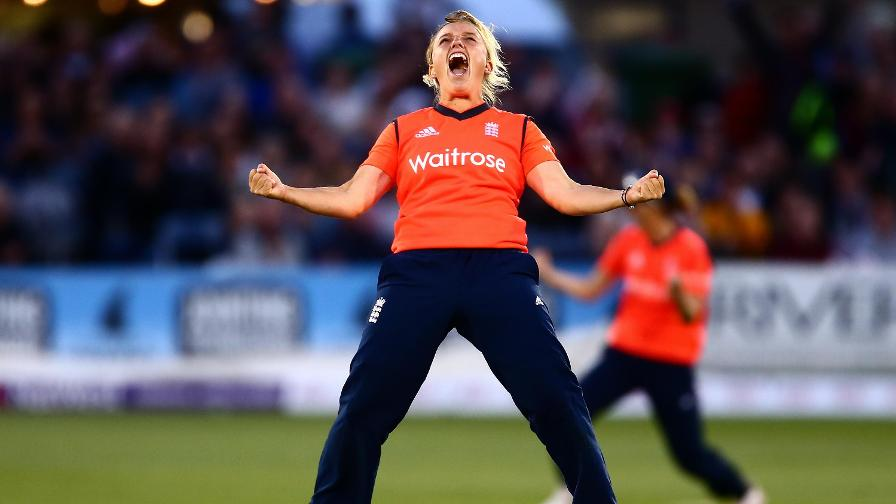 There were no half measures with her celebrations! Dani roars after getting the wicket of Elyse Villani of Australia during the 2nd NatWest T20 of the Women's Ashes Series in 2015.