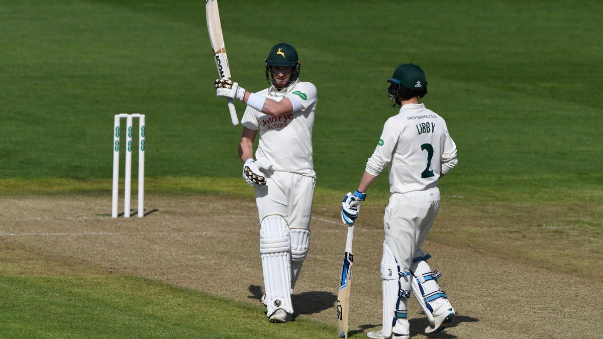 Both Riki Wessels and Jake Libby hit centuries for Notts