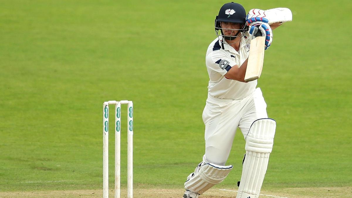 Yorkshire's Jack Brooks hit his maiden century against Lancashire