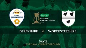 Highlights - Derbyshire v Worcestershire Day 2