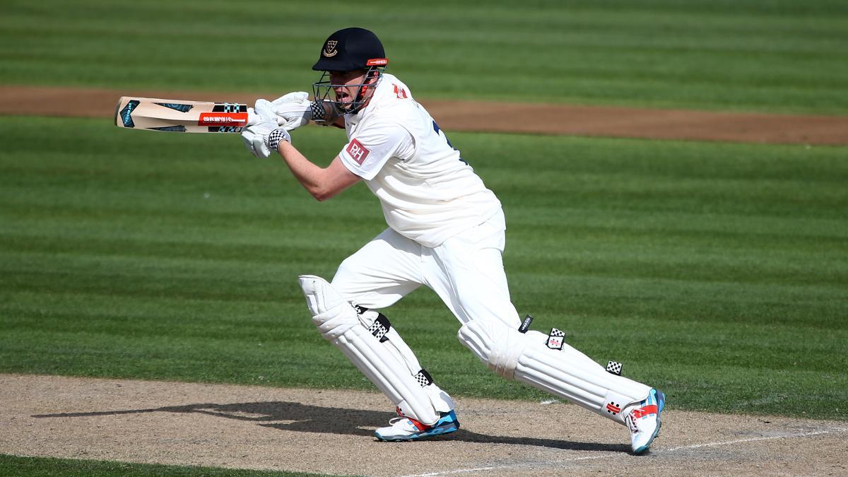 CAPTAIN MARVEL - Sussex's Luke Wells hit 122 on his captaincy debut