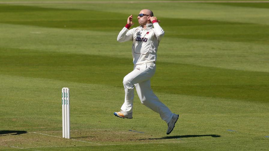 Fifteen wickets fall on busy day at Taunton