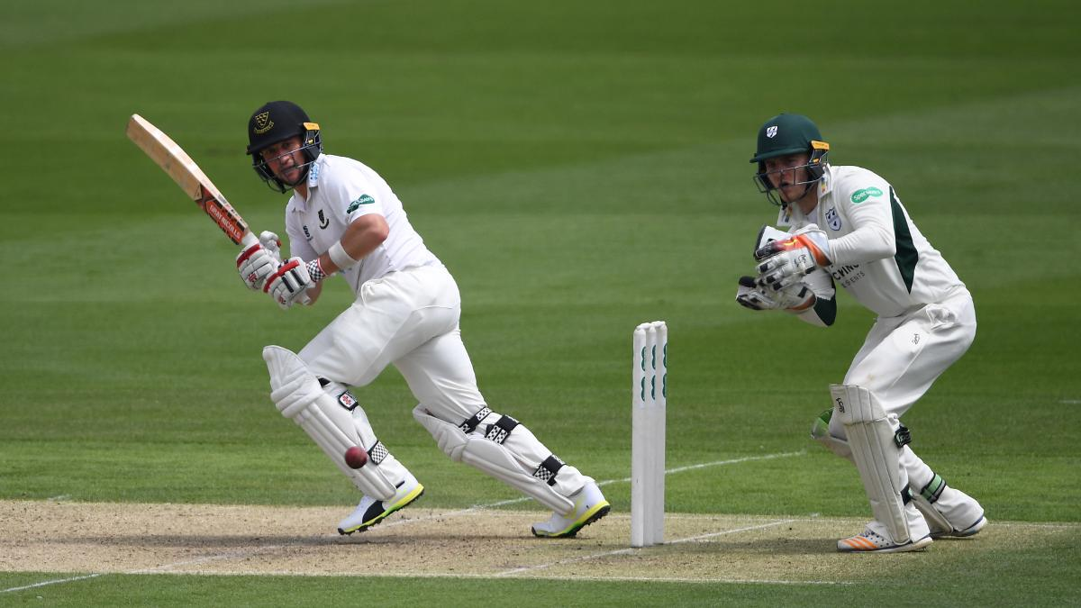 Harry Finch was in a hurry for Sussex on a gloomy day