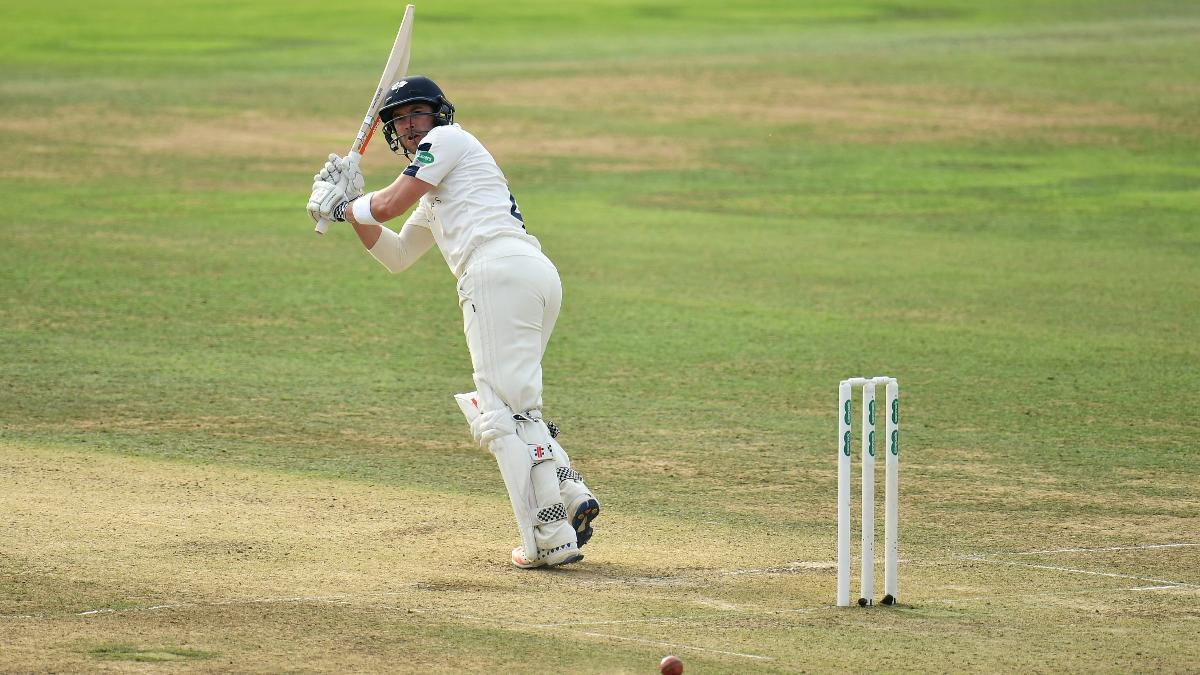Andrew Hodd scores the only half-century on day one of the fixture at Taunton to hold off Somerset