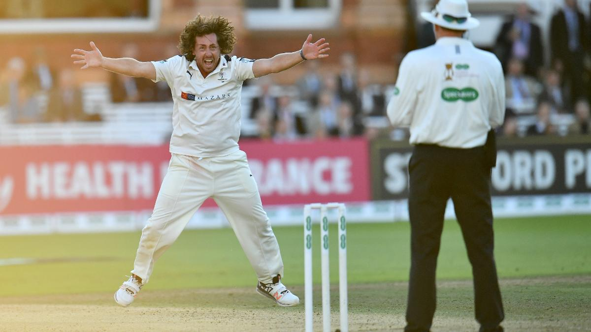 Ryan Sidebottom had a memorable day with the ball against Somerset