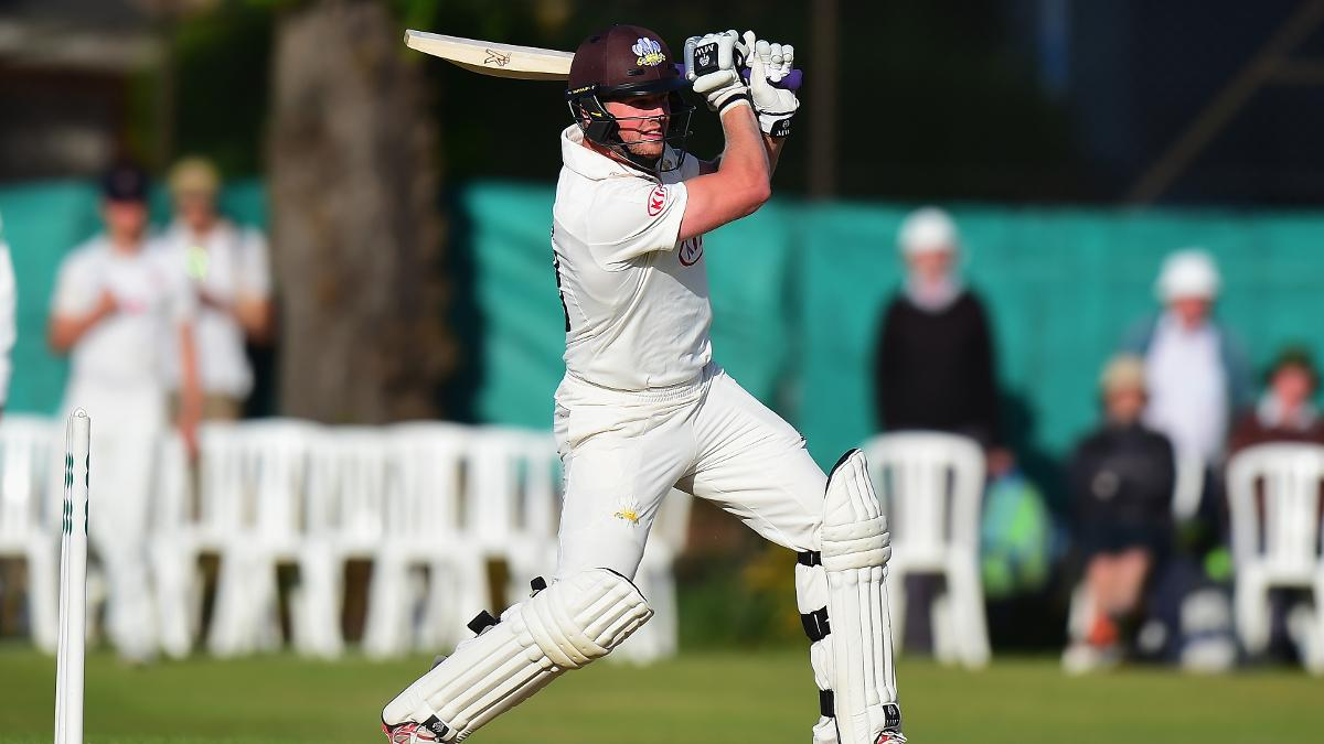 Surrey bowler Meaker excelled with the bat to put on 42