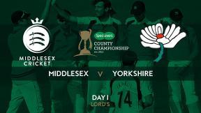 Highlights - Middlesex v Yorkshire Day 1