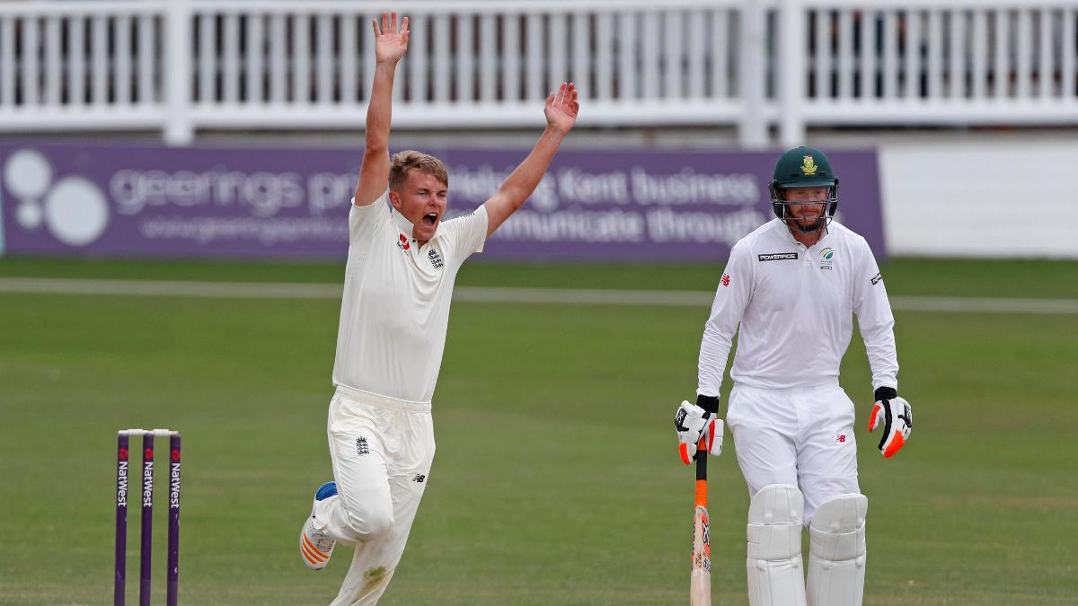 Surrey seamer Sam Curran finished with 2-21 from eight overs