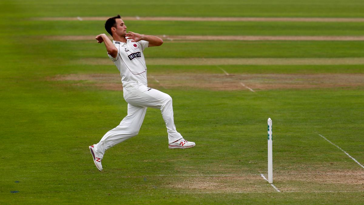 Lewis Gregory enjoyed the pink ball as he collected two wickets, with the match petering out to a draw