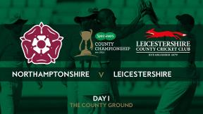 Highlights - Northamptonshire v Leicestershire Day 1