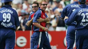 Paul Collingwood taking one of the best catches that you'll ever see