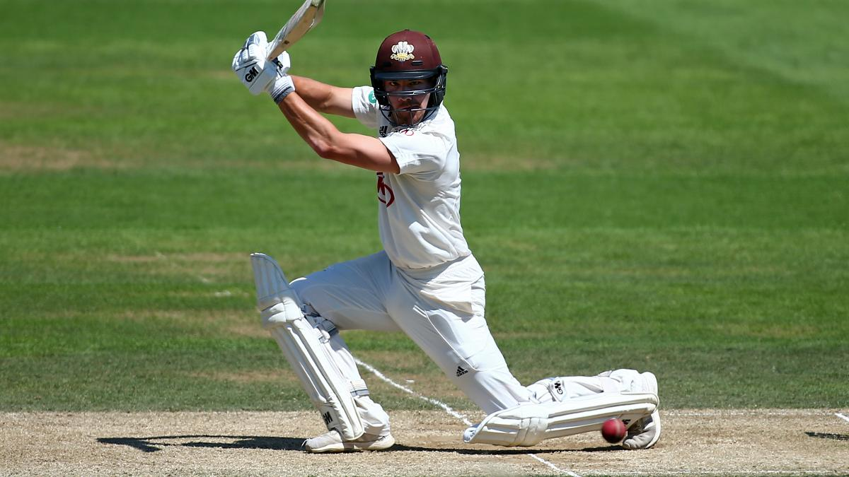 Roy Burns batted magnificently for Surrey