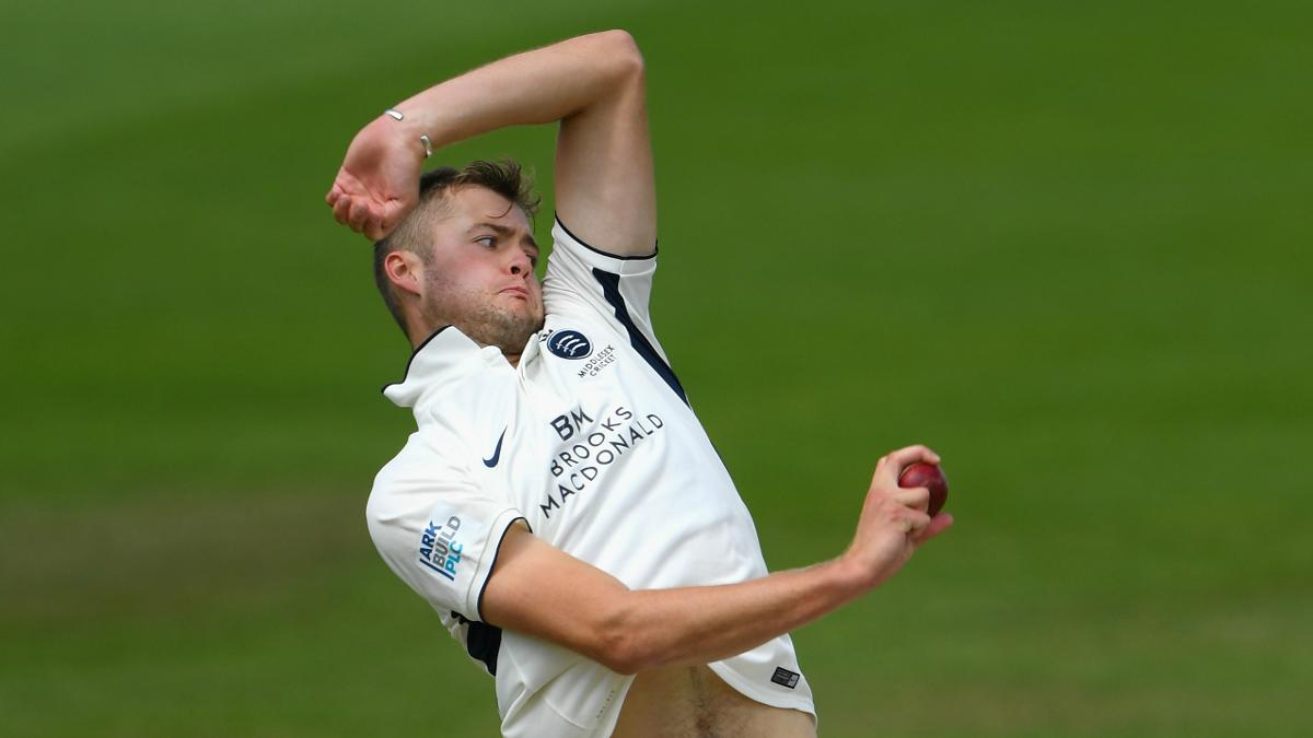 Tom Helm claimed his maiden Championship five-wicket haul