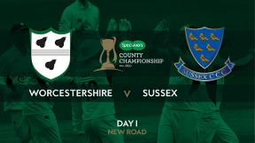 Highlights - Worcestershire v Sussex Day 1