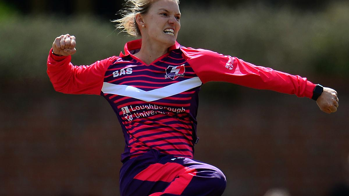 KRISTEN SHOUT - Aussie Kristen Beams took an early wicket for Loughborough Lightning