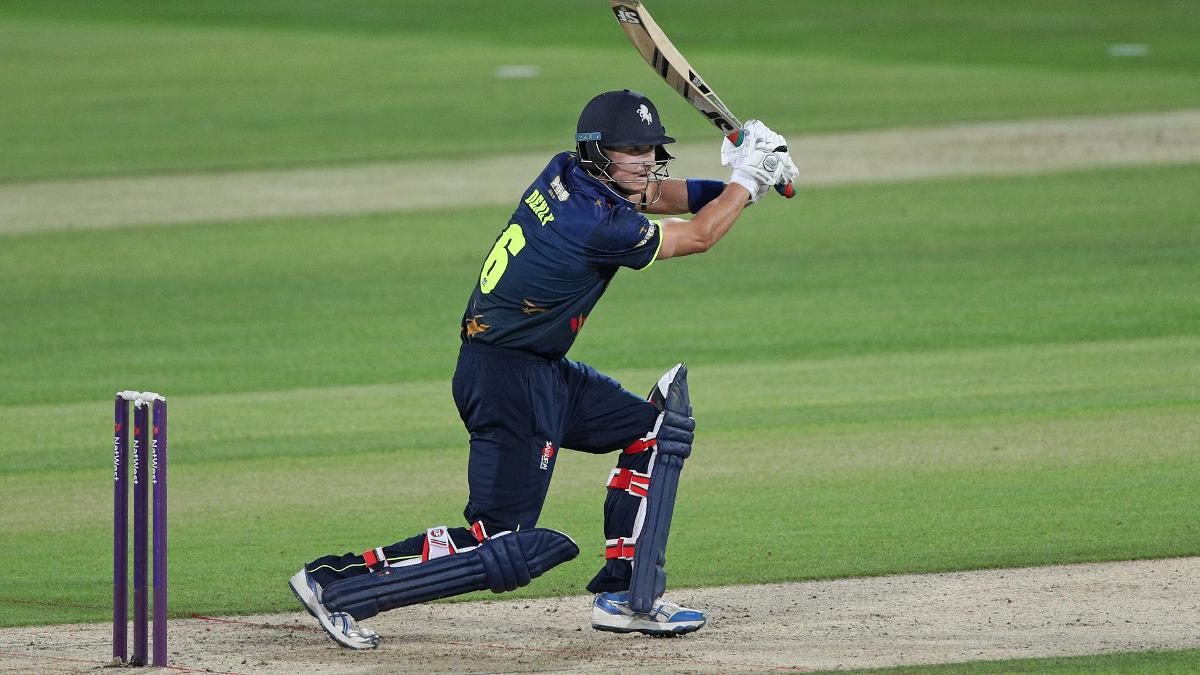 Joe Denly hits a brilliant century as he puts on a T20 record-breaking 207 runs with Daniel Bell-Drummond for the first wicket