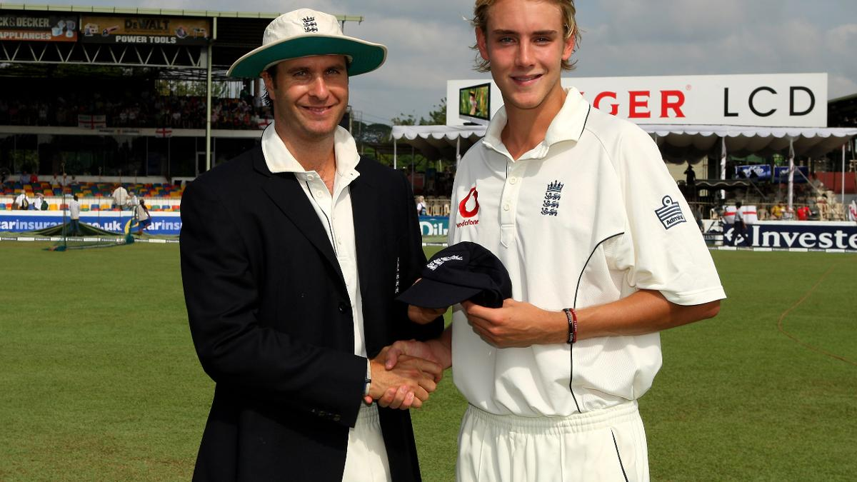 Broad got his first England Test cap in Sri Lanka during the 2007 tour