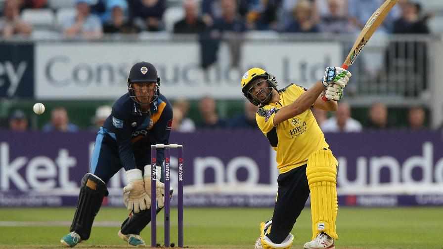 BE AFRIDI, VERY AFRIDI - Shahid entertains with a big-hitting maiden T20 century in the quarter-final between Hampshire and Derbyshire