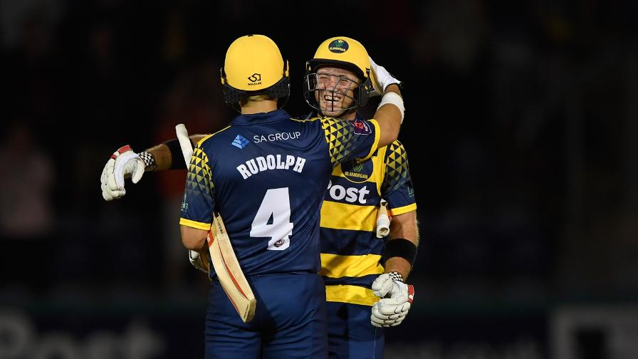 Jacques Rudolph and Colin Ingram calmly led Glamorgan to their target of 124