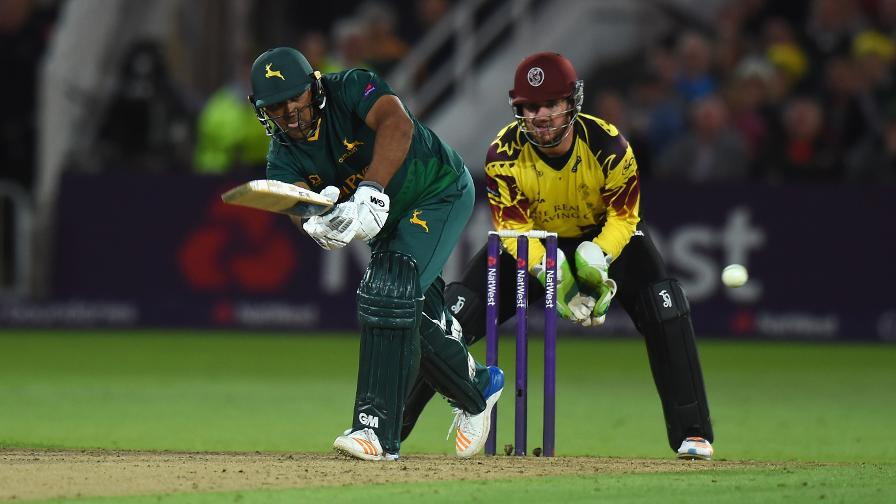 PLAY IT AGAIN, SAMIT - Patel offers a great display of counter-attacking batting to put Notts in pole position
