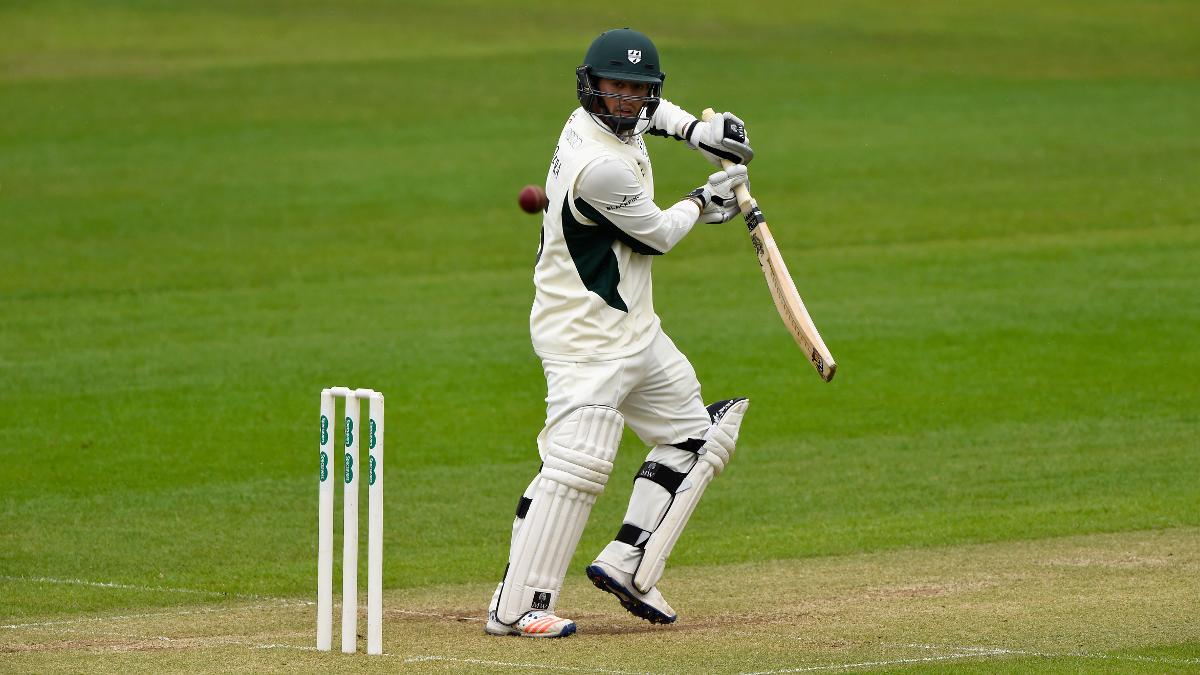 Brett D'Oliveira celebrates signing a new contract with Worcestershire by hitting top-score 93