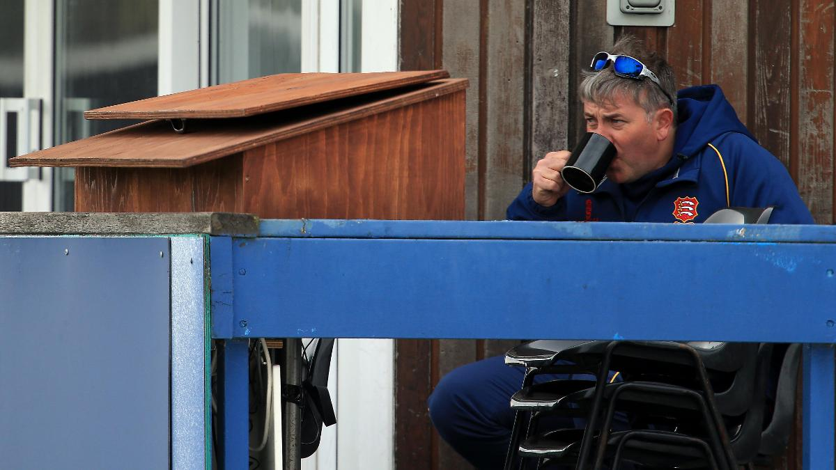 Chris Silverwood watches on as his Essex team progress at Chelmsford